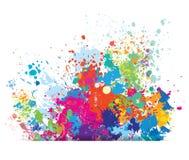 Koloru tło farb pluśnięcia Zdjęcie Stock