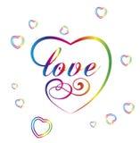 Koloru valentine serce Royalty Ilustracja
