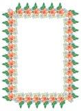 Koloru vertical rama z abstrakcjonistycznymi kwiatami Obrazy Stock