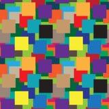 Koloru wektoru Kwadratowy wzór Zdjęcie Royalty Free