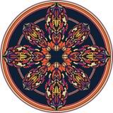 Koloru wzór w round ramie obraz royalty free