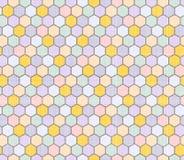 Koloru wzór wieloboki Zdjęcie Royalty Free