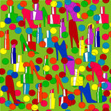 Koloru wzór z geometrycznymi kształtami Fotografia Stock