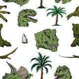 Koloru wzór Dino głowa Zdjęcie Stock