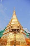 Koloru złota pagoda Zdjęcie Stock