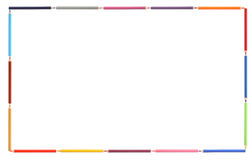 Kolorów ołówków rama Zdjęcie Stock