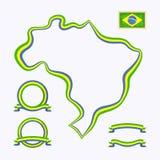 Kolory Brazylia ilustracja wektor
