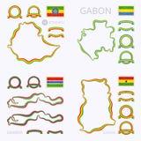 Kolory Etiopia, Gabon, Gambia i Ghana, royalty ilustracja