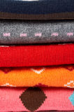 kolory kilka sterta ubrań zdjęcie royalty free