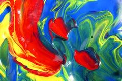 kolory mieszali Zdjęcia Stock