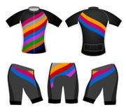 Kolory na sport koszulki kolarstwa kamizelce Zdjęcie Royalty Free