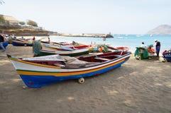 Kolory łodzie Zdjęcia Royalty Free