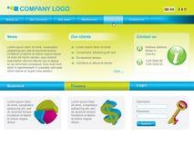 kolory projektują nowożytnego szablonu żywą sieć Obrazy Stock