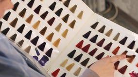Kolory Są Przedstawiającym Oryginalnym Włosianym kolorem, błękit, menchia, purpury, Białe na Ciężkiej karton książce w piękno sal zdjęcie wideo