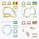 Kolory Senegal ilustracji