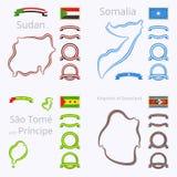 Kolory Sudan, Somalia, Principe i Swaziland, Sao wolumin ilustracji