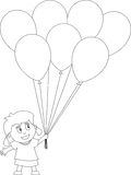 kolorystyk 25 książkowych dzieciaków Zdjęcia Stock