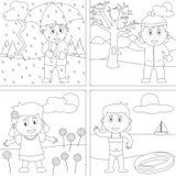kolorystyk 28 książkowych dzieciaków Obrazy Stock