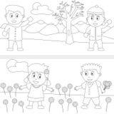 kolorystyk 30 książkowych dzieciaków Zdjęcie Stock