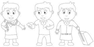 kolorystyka 14 książkowego dzieciaka ilustracja wektor