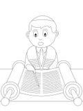 kolorystyka 22 książkowego dzieciaka Zdjęcia Stock