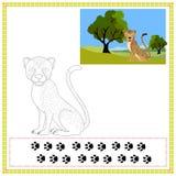 Kolorystyka gepard ilustracji