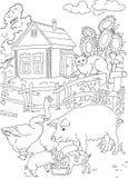 Kolorystyka kot, świnia, dom Zdjęcia Royalty Free