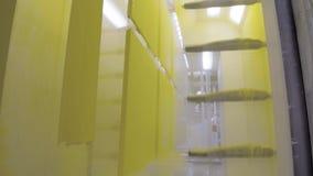 Kolorystyka metal części Prochowa narzut technologia w elektrostatycznym polu zbiory wideo