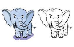 Kolorystyka słonia kreskówka - kolorystyki książka dla dzieci Royalty Ilustracja