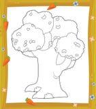 Kolorystyka talerz ilustracja dla dzieci - drzewo - ilustracja wektor