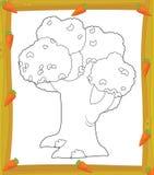 Kolorystyka talerz ilustracja dla dzieci - drzewo - ilustracji