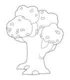 Kolorystyka talerz ilustracja dla dzieci - drzewo - royalty ilustracja