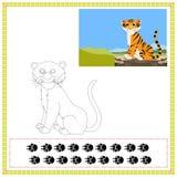 Kolorystyka tygrys royalty ilustracja