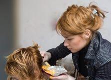 kolorystyka włosy Zdjęcia Royalty Free