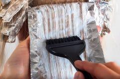 Kolorystyka włosy Zdjęcia Stock