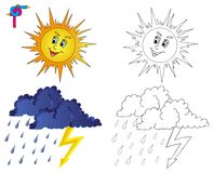 Kolorystyka wizerunku pogoda 3 Obrazy Royalty Free