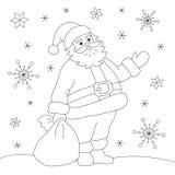 Kolorystyki książka Święty Mikołaj Zdjęcie Royalty Free