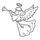 Kolorystyki książka, anioł royalty ilustracja
