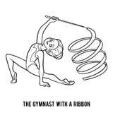 Kolorystyki książka gimnastyczka z faborkiem ilustracji