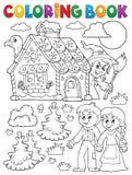 Kolorystyki książka Hansel 1 i Gretel Zdjęcia Stock