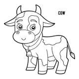 Kolorystyki książka, krowa ilustracja wektor
