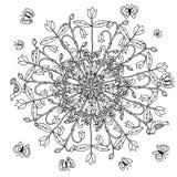 Kolorystyki książki antistress stylowy obrazek royalty ilustracja