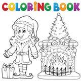 Kolorystyki książki Bożenarodzeniowy thematics 7 Obraz Stock