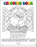 Kolorystyki książki Grandparents' dzień Zdjęcia Royalty Free