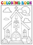 Kolorystyki książki kościelnego budynku temat 1 ilustracja wektor