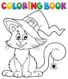 Kolorystyki książki kota Halloweenowy temat 2 Zdjęcie Royalty Free