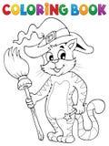 Kolorystyki książki kota Halloweenowy temat 3 Obraz Royalty Free