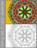 Kolorystyki książki strona dla dorosłych - kwitnie Paisley Obraz Royalty Free