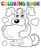 Kolorystyki książki walentynki psa temat 1 ilustracja wektor