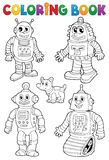 Kolorystyki książka z różnorodnymi robotami Obraz Royalty Free
